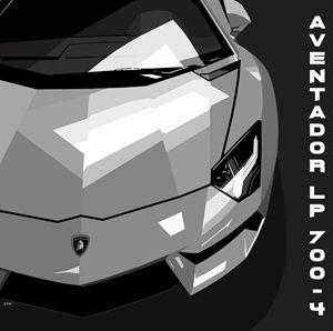 Lamborghini Aventador Digital - EDG Art