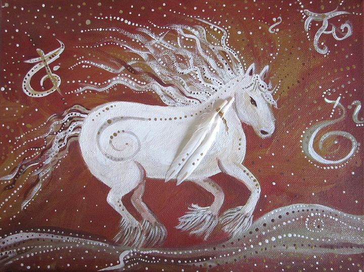 The White Horse -  Air - Butterfly Woman's Gallery