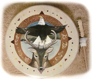 Rainbow Medicine Wheel Teaching Drum
