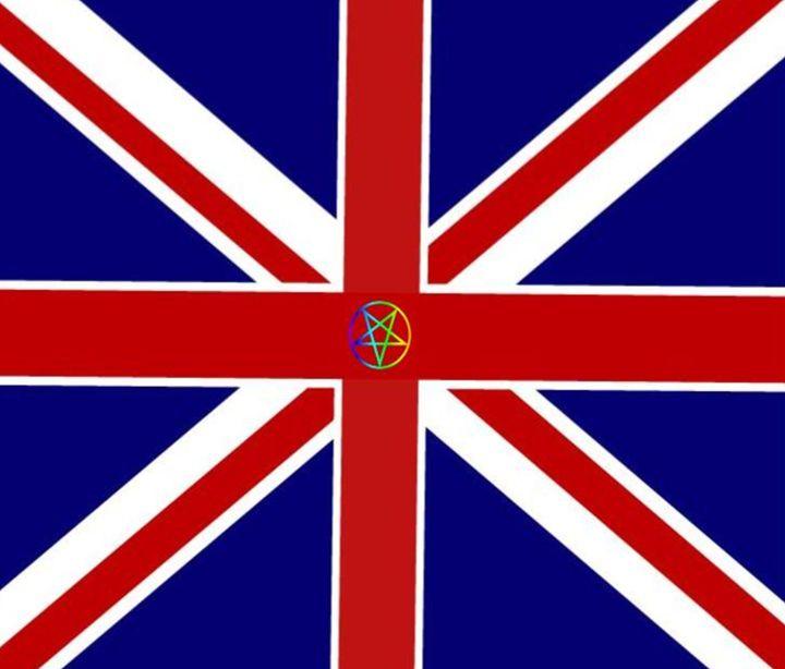Union Jack Pentagram Flag - My Evil Twin