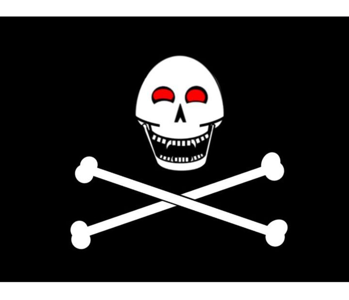 Fanged Jolly Roger Flag. - My Evil Twin
