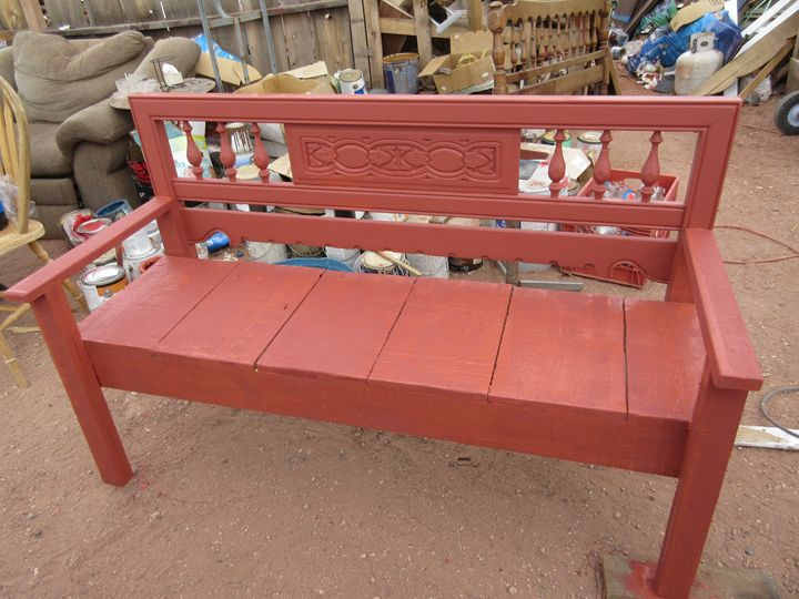 Country Red Bench - My Evil Twin