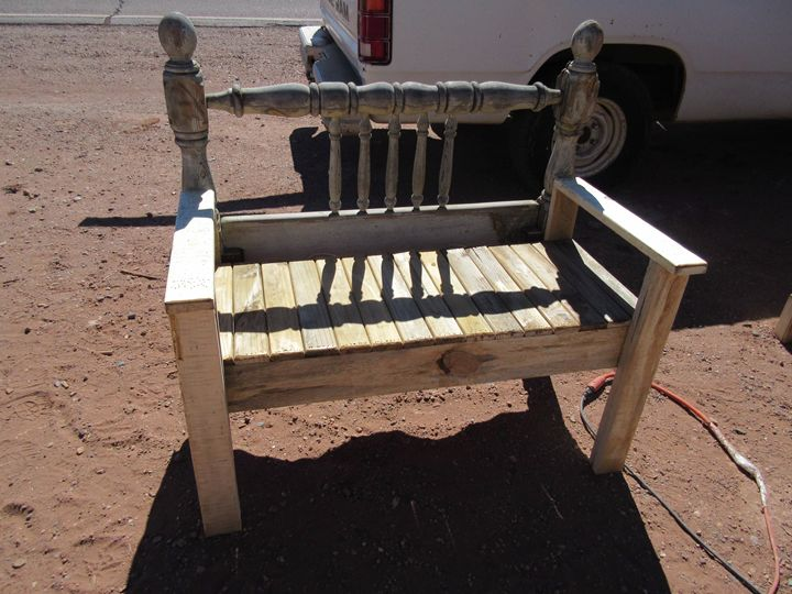 Rustic Bench - My Evil Twin