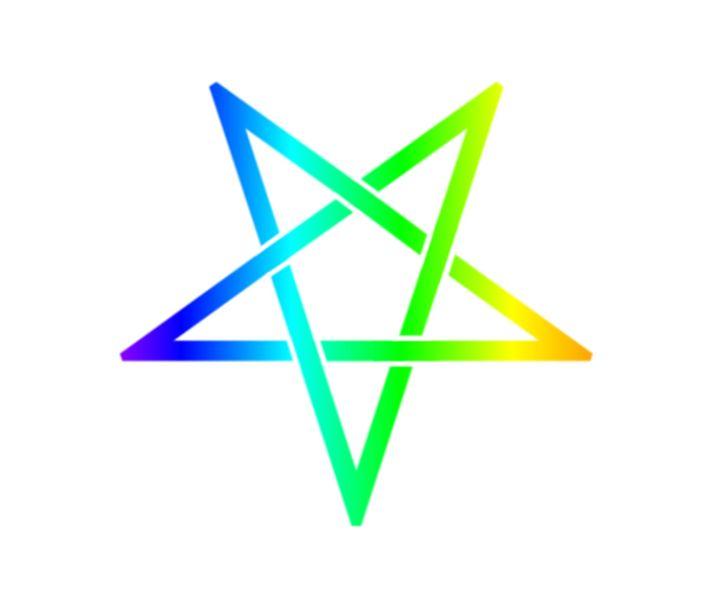 Inverted Rainbow Pentagram #2 - My Evil Twin