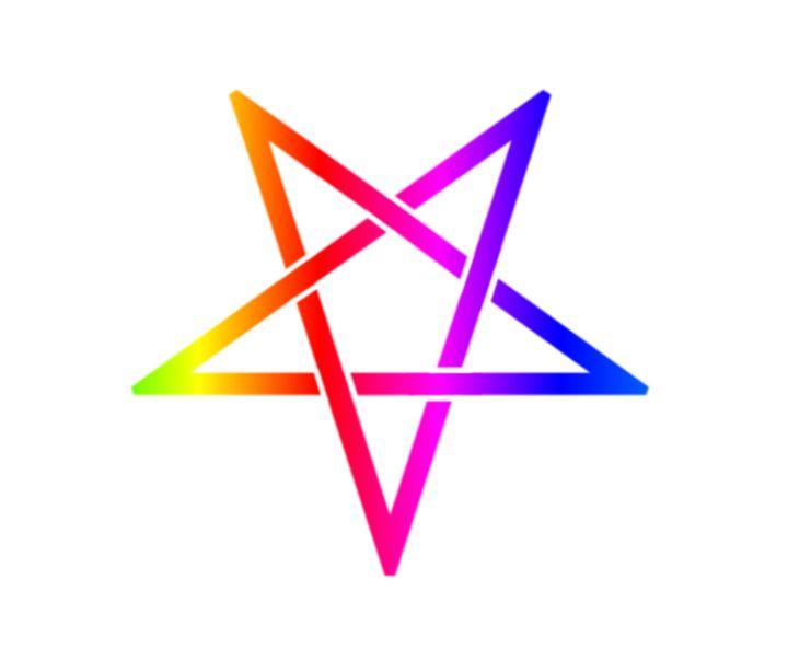 Inverted Rainbow Pentagram - My Evil Twin