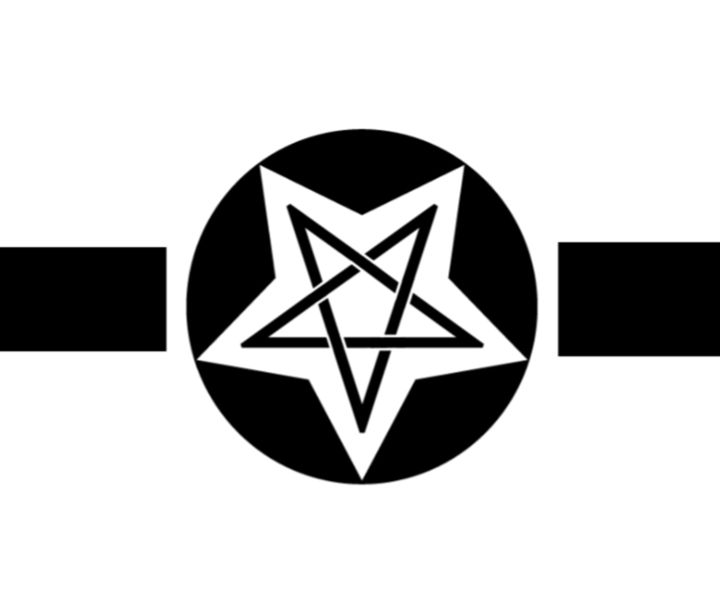 Inverted Wiccan Military Symbol - My Evil Twin