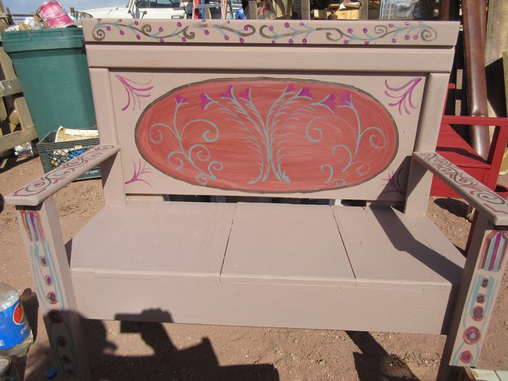 Flowered Bench - My Evil Twin