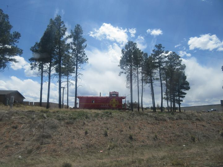 Santa Fe Railroad Caboose - My Evil Twin