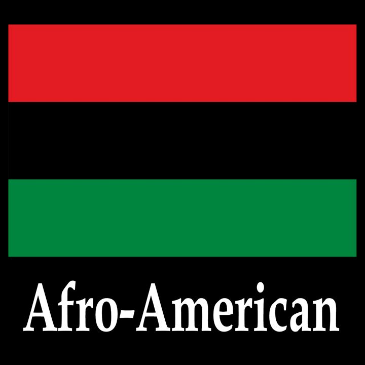Afro-American Flag And Name - My Evil Twin