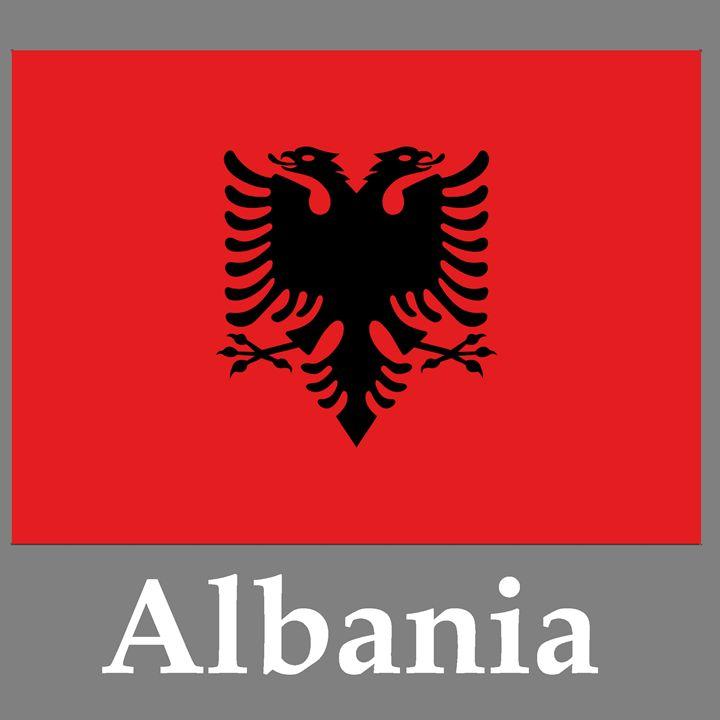 Albania Flag And Name - My Evil Twin