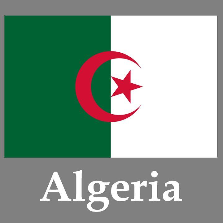 Algeria Flag And Name - My Evil Twin