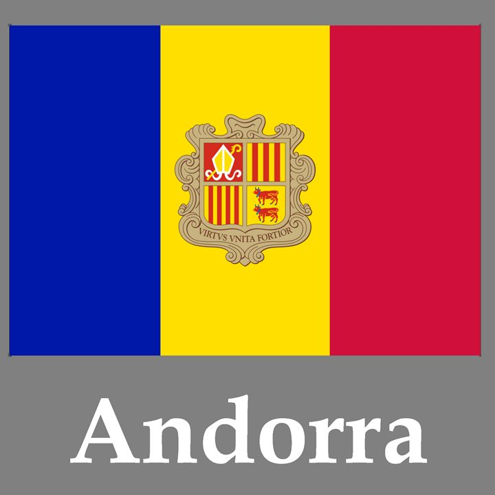 Andorra Flag And Name - My Evil Twin
