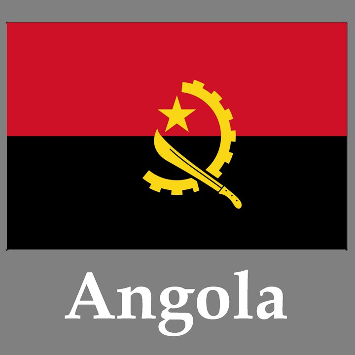Angola Flag And Name - My Evil Twin