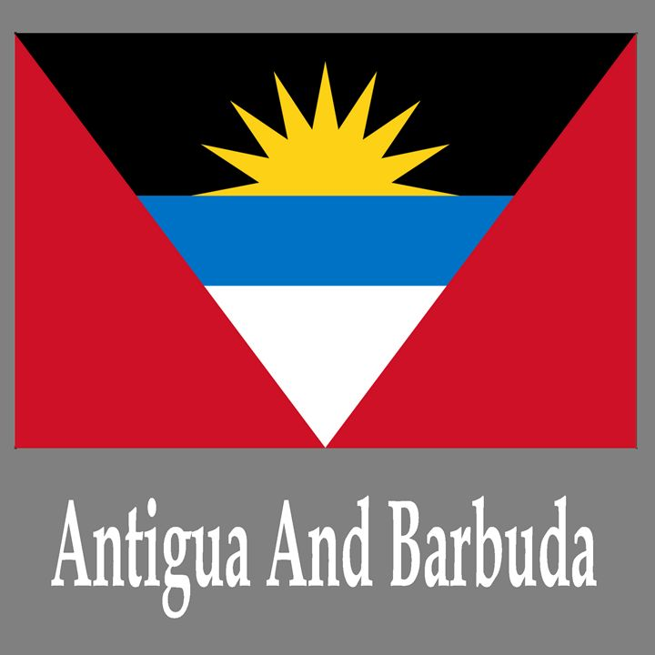 Antigua And Barbuda Flag And Name - My Evil Twin
