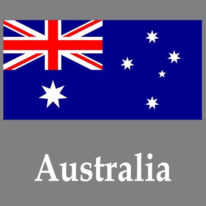 Australia Flag And Name - My Evil Twin
