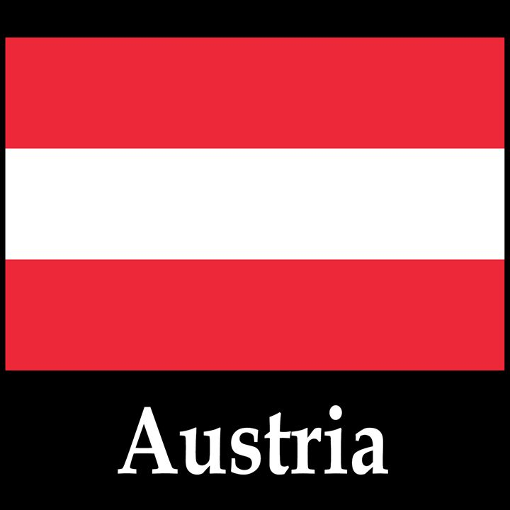Austria Flag And Name - My Evil Twin