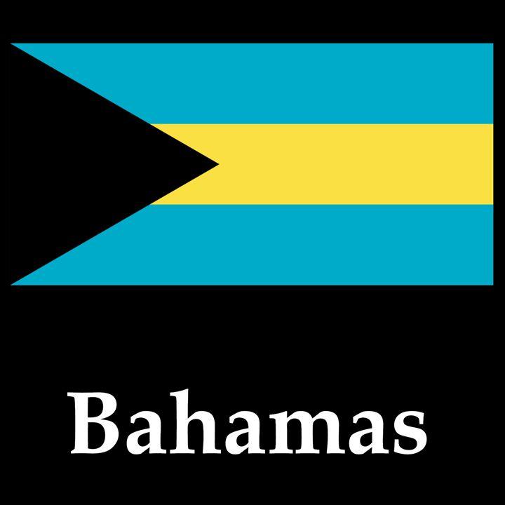 Bahamas Flag And Name - My Evil Twin