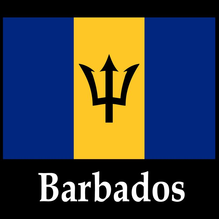 Barbados Flag And Name - My Evil Twin