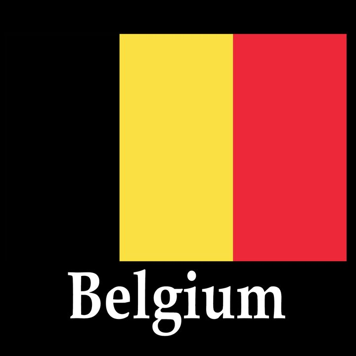Belgium Flag And Name - My Evil Twin