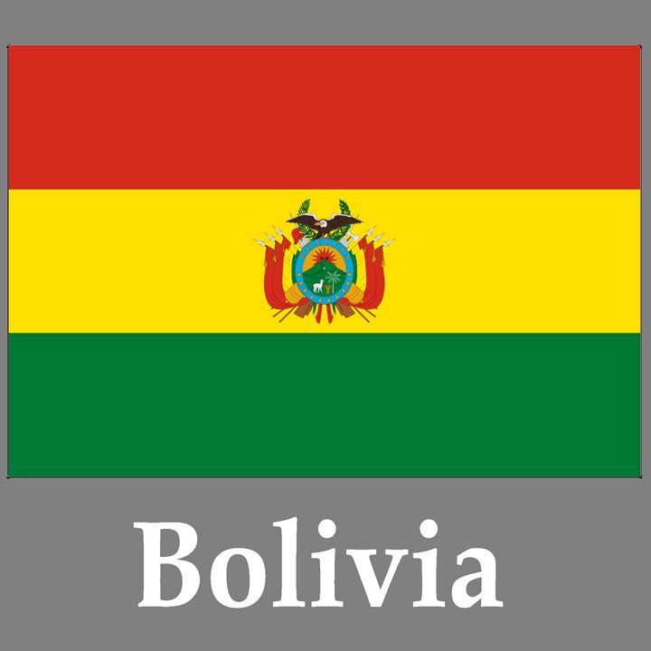 Bolivia Flag And Name - My Evil Twin