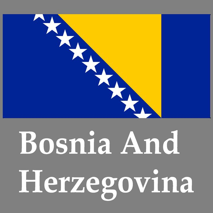 Bosnia And Herzegovina Flag - My Evil Twin