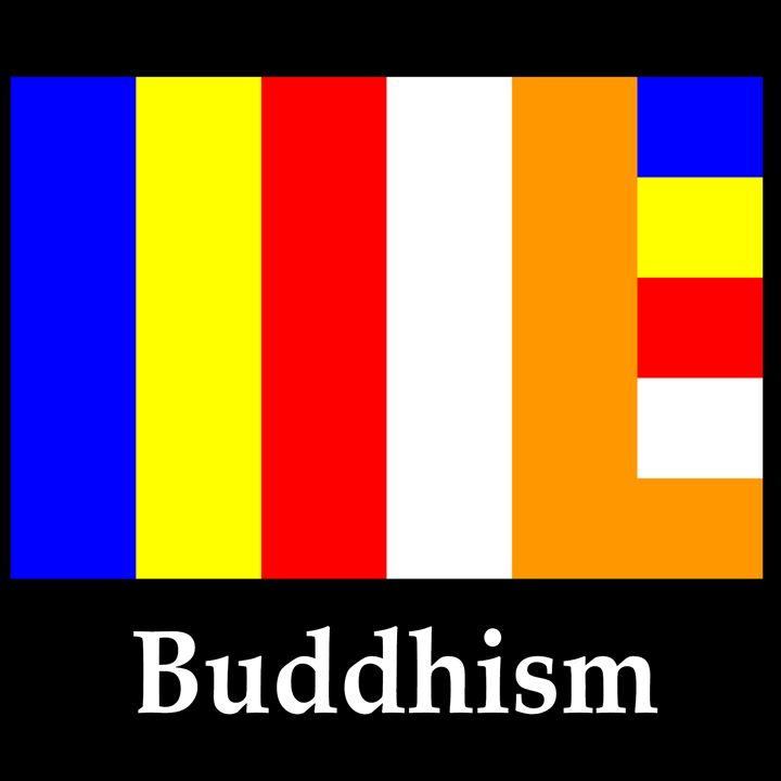 Buddhism Flag And Name - My Evil Twin