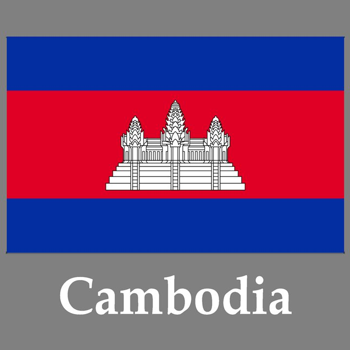 Cambodia Flag And Name - My Evil Twin