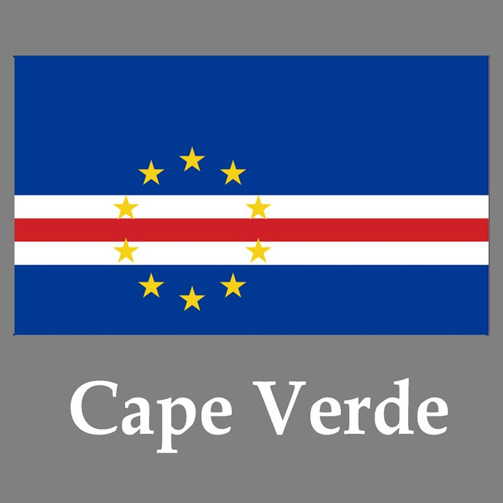 Cape Verde Flag And Name - My Evil Twin