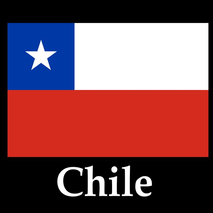 Chile Flag And Name - My Evil Twin