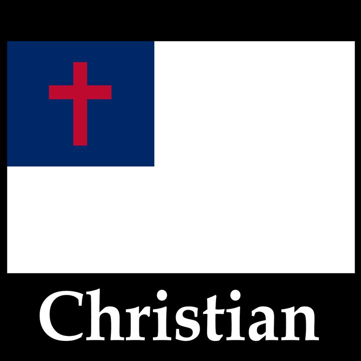 Christian Flag And Name - My Evil Twin