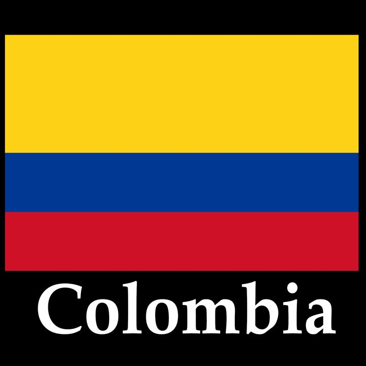 Colombia Flag And Name - My Evil Twin