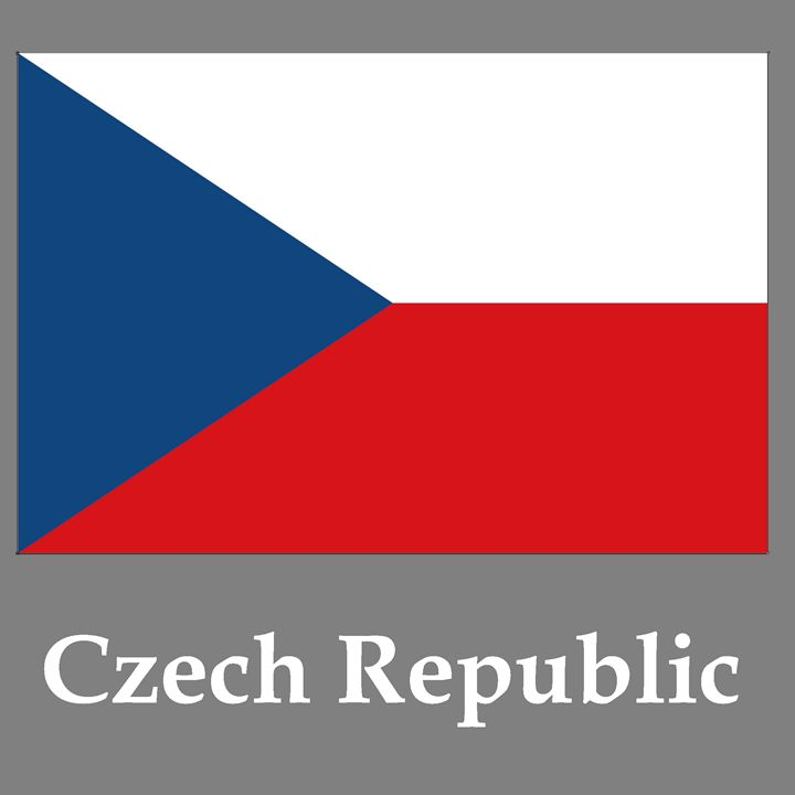 Czech Republic Flag And Name - My Evil Twin