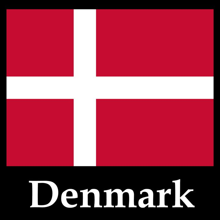 Denmark Flag And Name - My Evil Twin