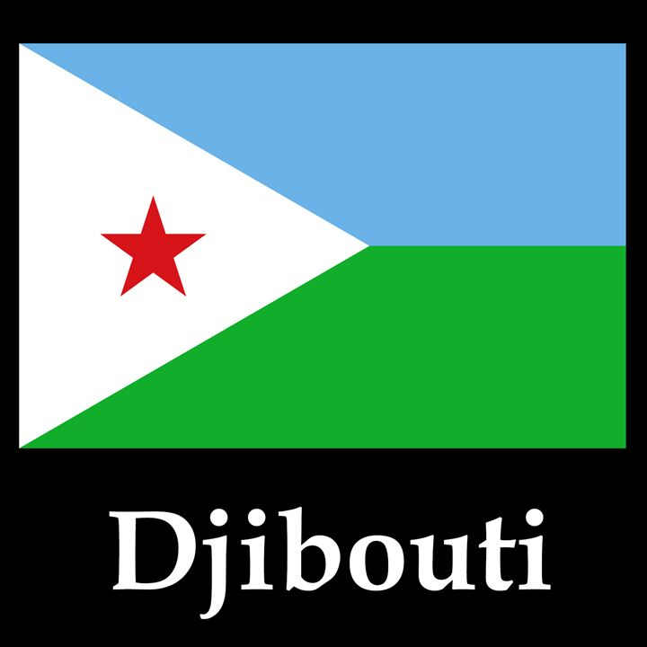 Djibouti Flag And Name - My Evil Twin