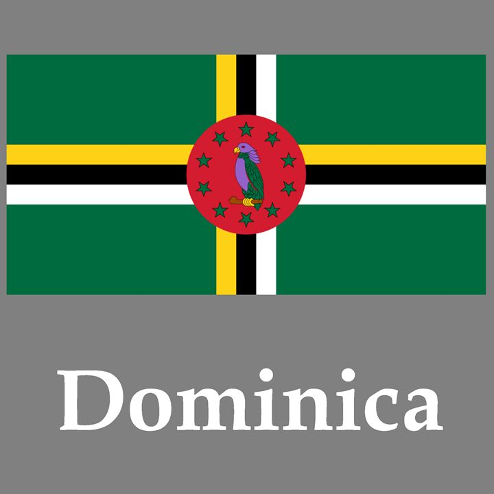 Dominica Flag And Name - My Evil Twin
