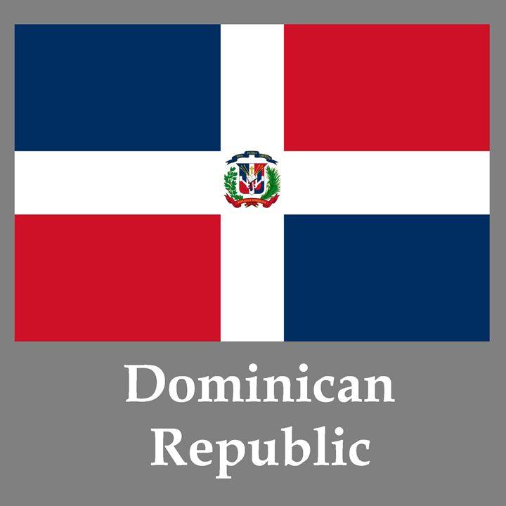 Dominican Republic Flag And Name - My Evil Twin