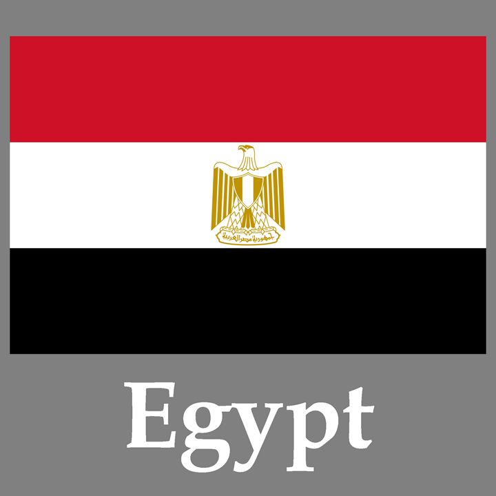 Egypt Flag And Name - My Evil Twin