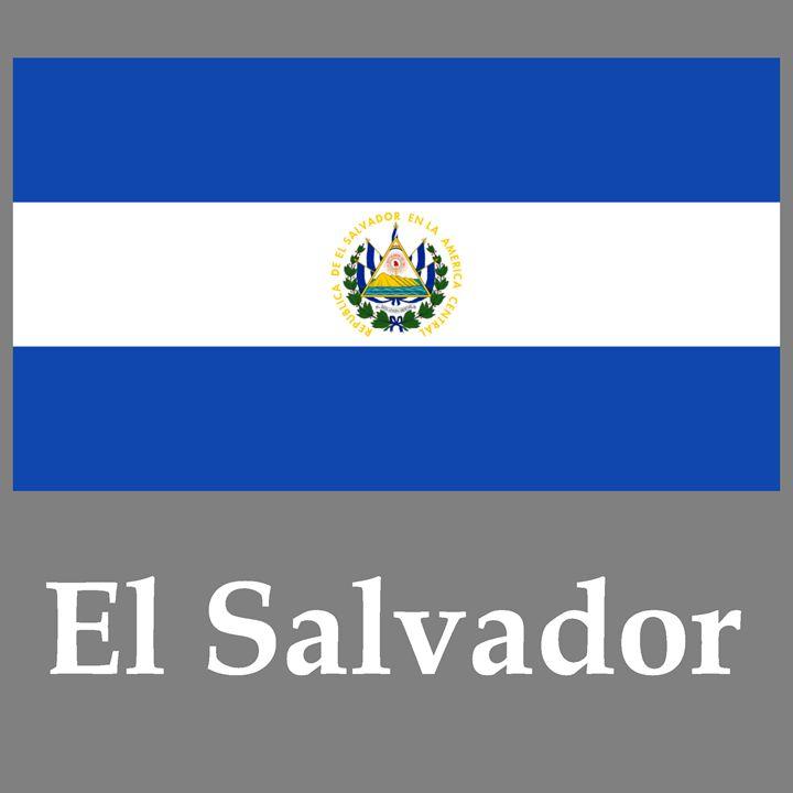 El Salvador Flag And Name - My Evil Twin