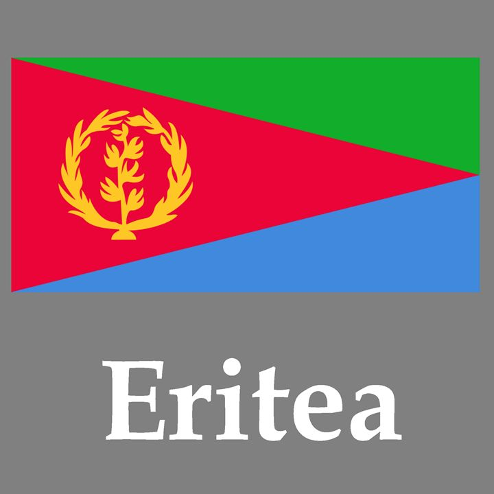 Eritrea Flag And Name - My Evil Twin