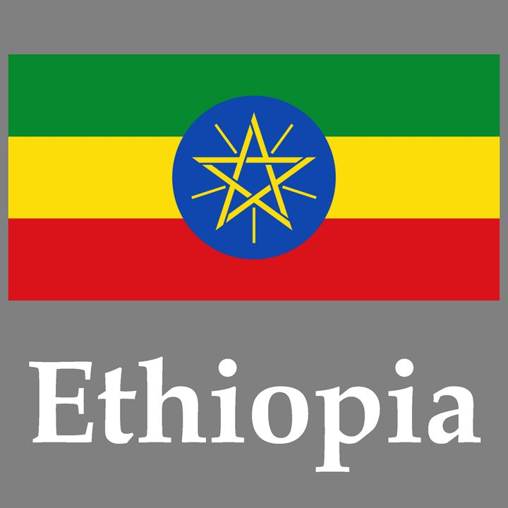Ethiopia Flag And Name - My Evil Twin