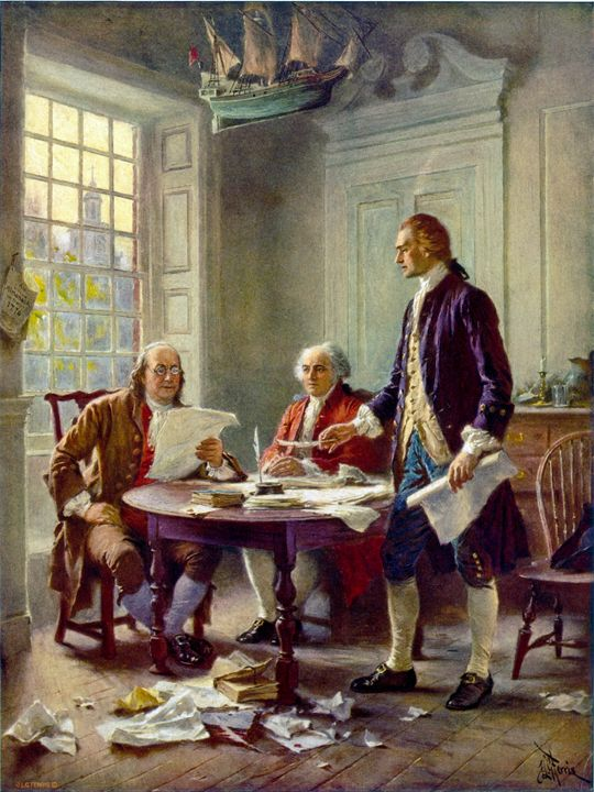 Writing The Declaration Of Independe - My Evil Twin