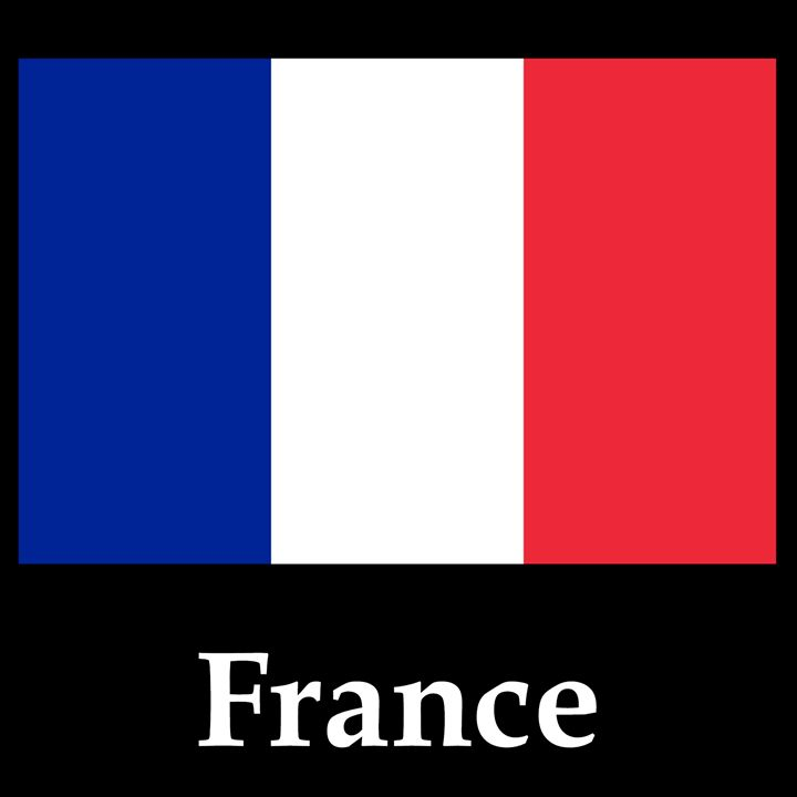 France Flag And Name - My Evil Twin
