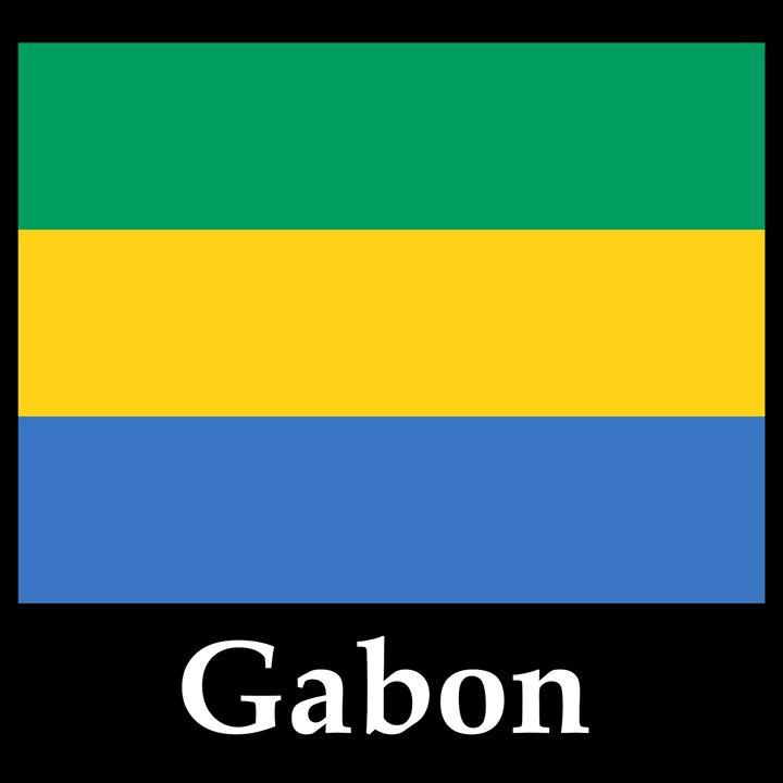 Gabon Flag And Name - My Evil Twin