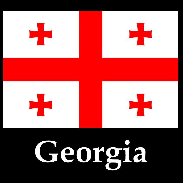 Georgia Flag And Name - My Evil Twin