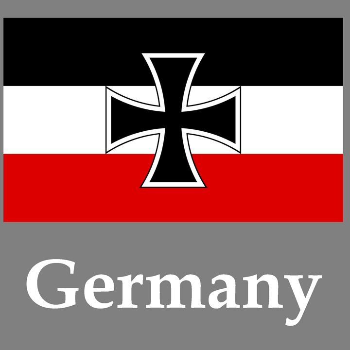 Germany Flag #2 And Name - My Evil Twin