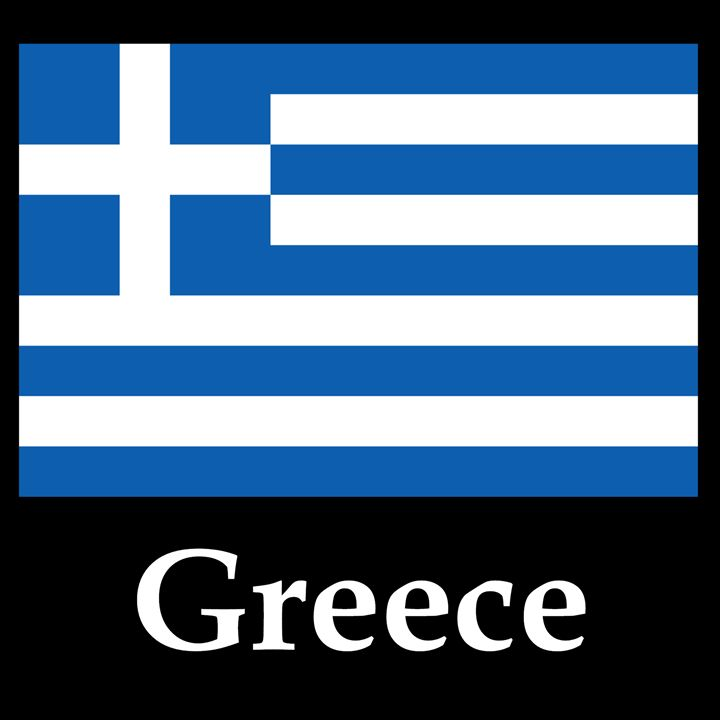 Greece Flag And Name - My Evil Twin