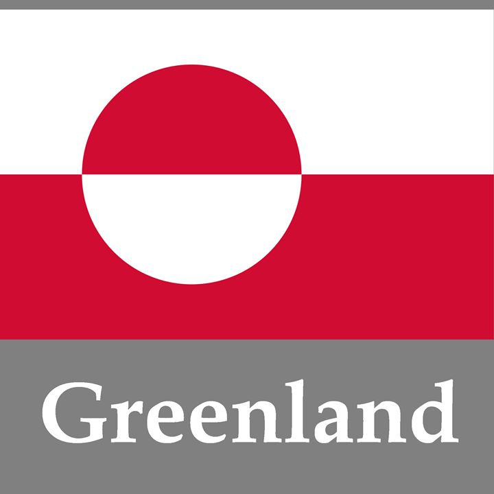 Greenland Flag And Name - My Evil Twin