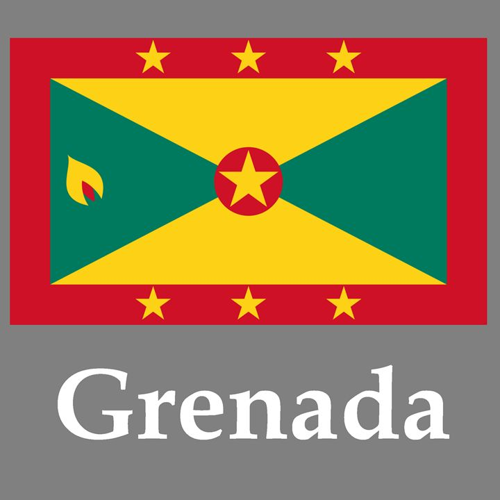 Grenada Flag And Name - My Evil Twin