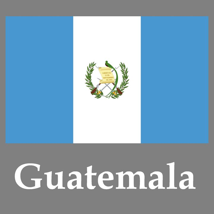 Guatemala Flag And Name - My Evil Twin