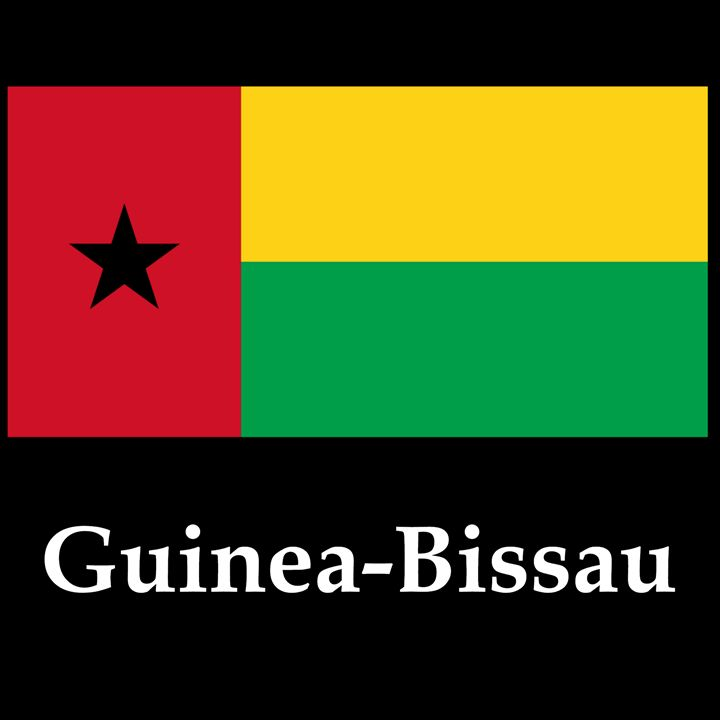 Guinea-Bissau Flag And Name - My Evil Twin